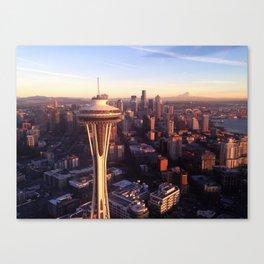 Birds Eye View-Seattle Skyline Canvas Print