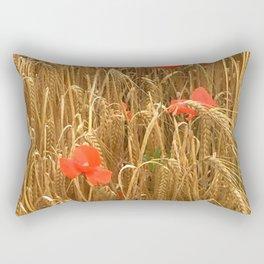 Daubs of poppy Rectangular Pillow