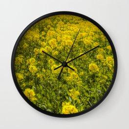 Yellow Fields Of Summer Art Wall Clock