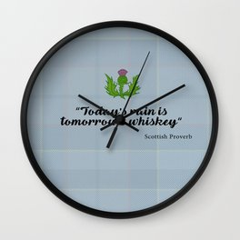 scottish proverb Wall Clock