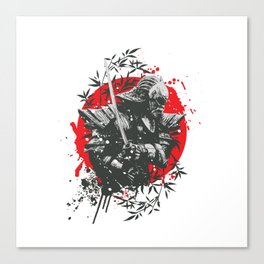 Black Samurai Canvas Print