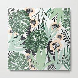 Jungle fever in Mint Green Metal Print