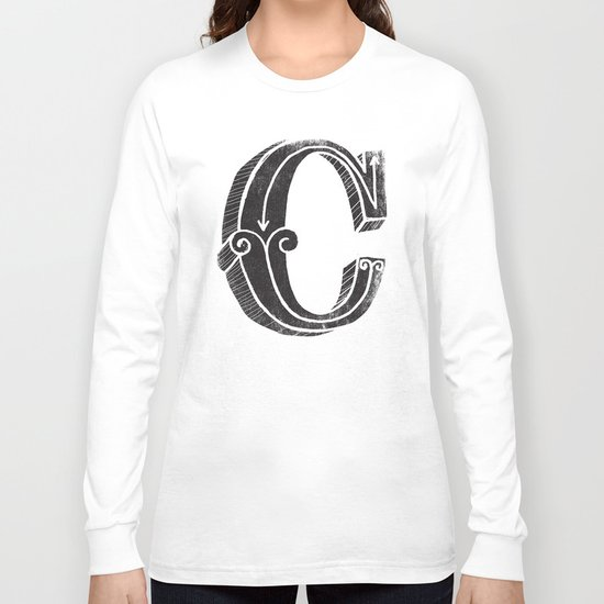 C - the third letter of the alphabet Long Sleeve T-shirt