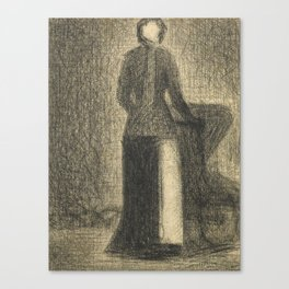 Nurse with a Child's Carriage Canvas Print