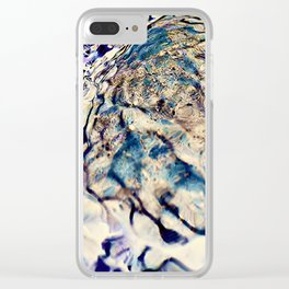 abstract stone and running water Clear iPhone Case