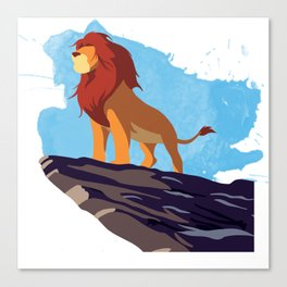 The Lion King Minimalist Canvas Print