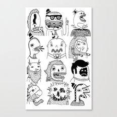 Monster Meet Up Canvas Print