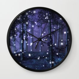 Purple Fantasy Forest Wall Clock