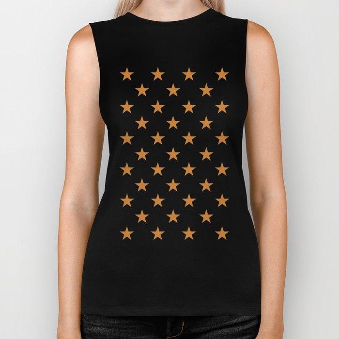 Stars (Bronze/White) Biker Tank