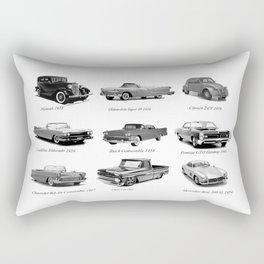 Classic Car Collection Rectangular Pillow