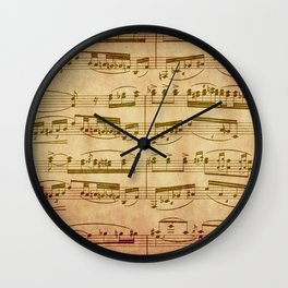 Vintage Sheet Music Wall Clock