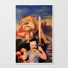 Finn The Butcher oil on canvas  Canvas Print