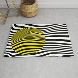Yellow Circle Abstract Rug