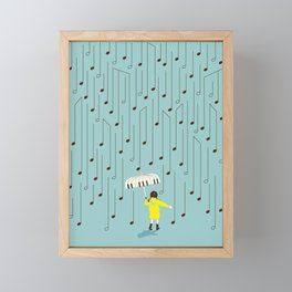 Singing in the Rain v2 Framed Mini Art Print
