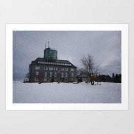 Snowy Kahler Asten Tower Art Print