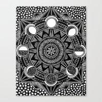 lunar Canvas Prints featuring lunar by Yuki Sambongi