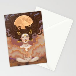 Lady of the Harvest and Hunter's Moon Stationery Cards