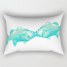 fishkiss: 23turquoise Rectangular Pillow