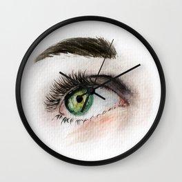 Eye Study in Watercolor 1 Wall Clock