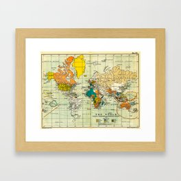 Map of the old world Framed Art Print