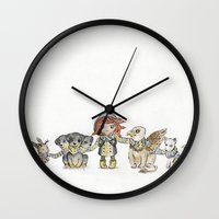 holiday Wall Clocks featuring Holiday by Freeminds