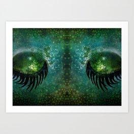 Dragon Eyes at Dusk Art Print