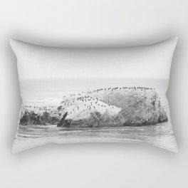 Bird Rock on Shell Beach Rectangular Pillow