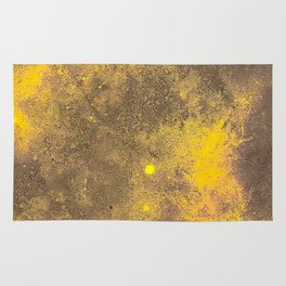Yellow Painted on Concrete Rug