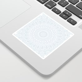 Minimal Minimalistic Light Cool Gray Mandala Sticker