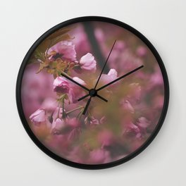 May Flowers Wall Clock