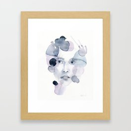 no. 492. Remember to daydream. Modern and abstract portrait Framed Art Print