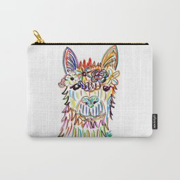 Llama with flowers Carry-All Pouch