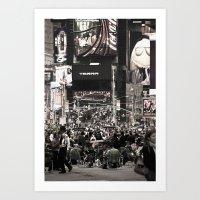 Times Square Seats Art Print