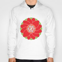 flower pattern Hoodies featuring Flower Pattern by smoothimages