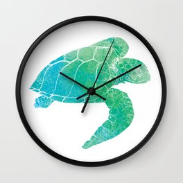 Sea Turtle II Wall Clock