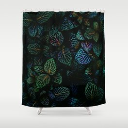 Deep Dark Leaves Shower Curtain
