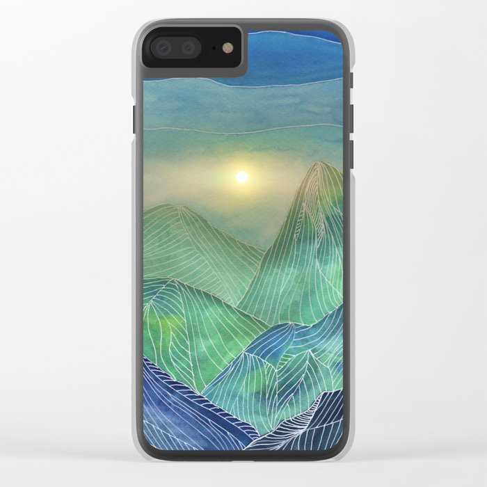 Lines in the mountains V Clear iPhone Case