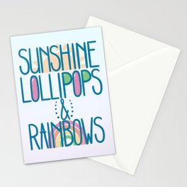 Sunshine Lollipops and Rainbows Stationery Cards
