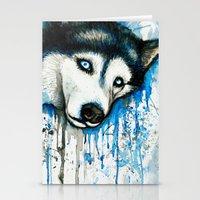 husky Stationery Cards featuring Husky by Villarreal