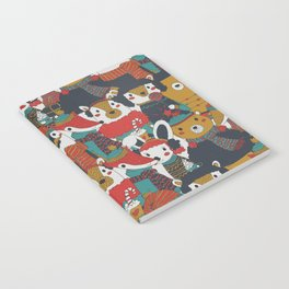 Funky Retro Christmas Animals Notebook