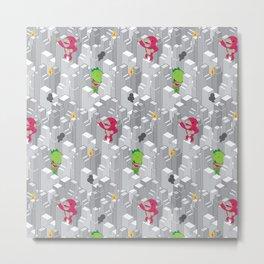 Cute disaster pattern Metal Print
