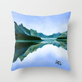 Mountain Reflection Throw Pillow