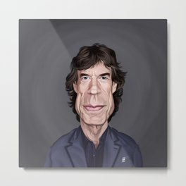 Celebrity Sunday ~ M ick Jagger Metal Print