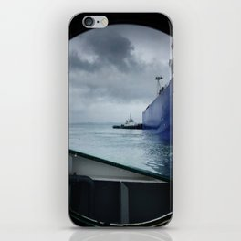 tug boat port hole iPhone Skin