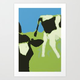 Cow´s head and rear end Art Print