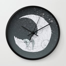 Sleeping Moon Wall Clock