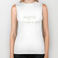 vegan Biker Tanks featuring Vegan  by VitezPetra