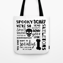 Spooky Scary Skeletons Tote Bag
