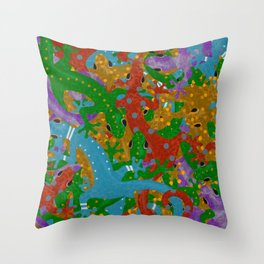 Gecko Mania Throw Pillow