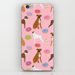 Boxer donuts cute gifts for pure breed dog lover Boxers dog owners iPhone Skin